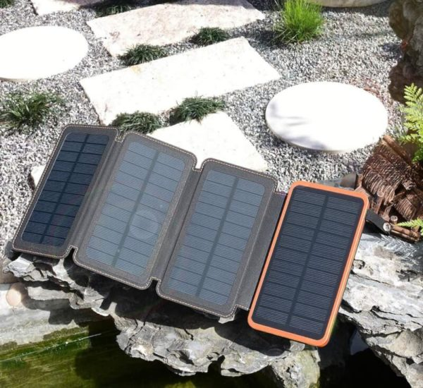 Hiluckey 25000mAh Waterproof Solar Power Bank