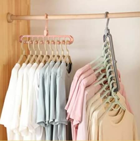 Magic Hangers with Space-Saving Design