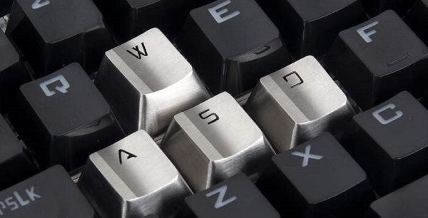 WASD Stainless Steel Keycaps for Gamer