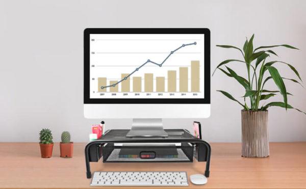 Mesh Metal Printer, Monitor, and Laptop Stand Holder