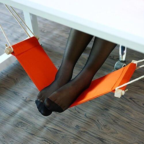 HaloVa Foot Hammock Portable Adjustable Office Foot Rest