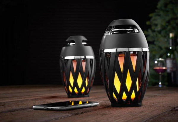 Bluetooth Speaker with Ambient LED Flame
