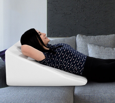 Wedge Pillow to Reduce Back Pain
