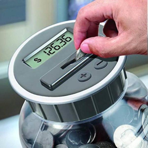 Digital Coin Bank Savings Jar
