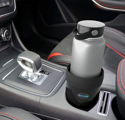 Rubber Tabs Car Cup Holder Expander & Adapter