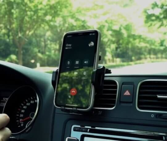Unobstructed-View Car Dash Phone Mount