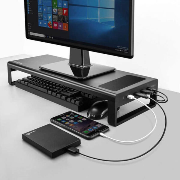 Monitor Stand with USB Ports