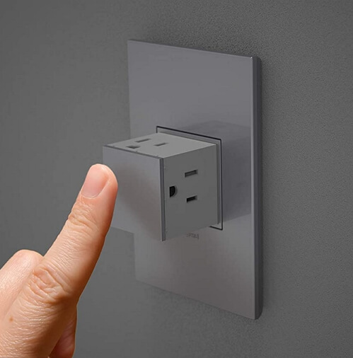 Pop Out Power Outlets for Minimalist Room