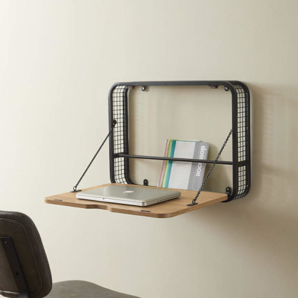 Wall-Mounted Foldable Laptop Desk for Small Room