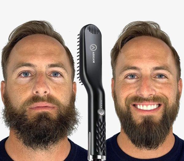 Heated Beard Straightener for Men