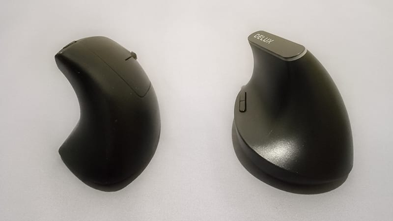 Ordinary ergonomic mouse vs Delux M618D